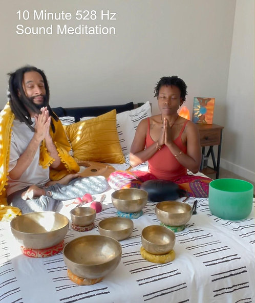 10 minute 528 Hz Sound Meditation AUDIO for New Year Miracles- MP3 Download