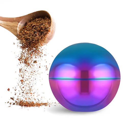 LIHAO 2 inch 3 Pieces Spice Herb Grinder - Globe Design