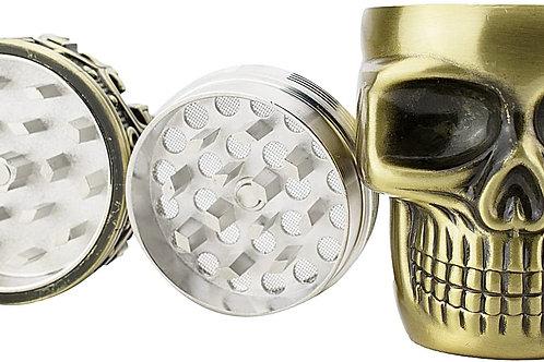 Golden Bell Spice Herb Skull Grinder - Bronze
