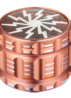 Golden Bell 2.5 Inch Aluminum Spice Herb Grinder Lightning Shape - Rose Gold