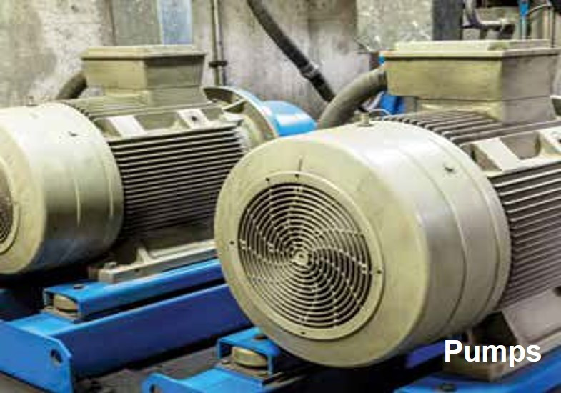 Various type of Pumps