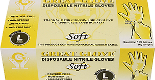 GREAT GLOVE Soft Nitrile Powder-Free Glo