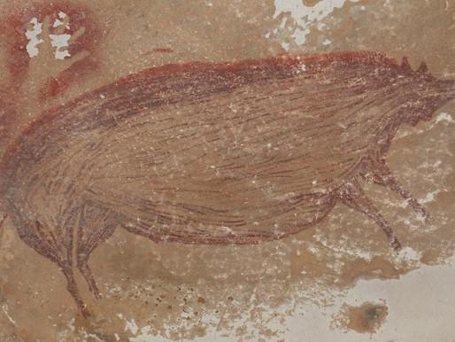 Histórico hallazgo de la pintura rupestre, en Indonesia.