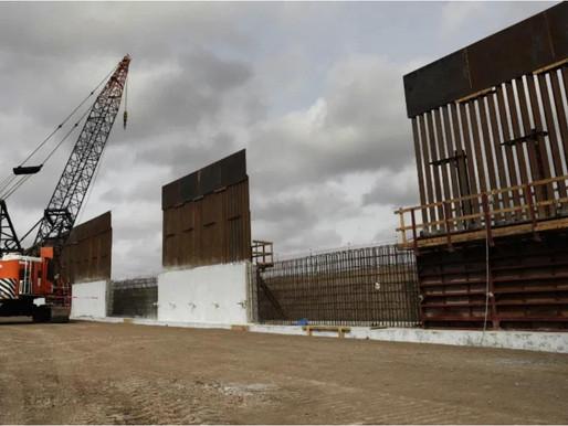 Biden detendrá la construcción del muro de México.