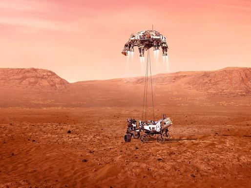 """Aterriza sobre la superficie de Marte la nave """"Mars Perseverance"""" de la NASA."""