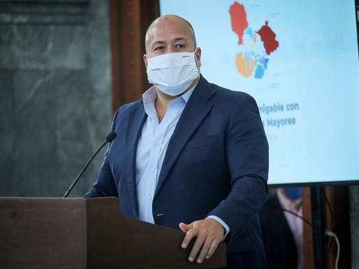 Gobernador de Jalisco, negativo a covid-19: sostuvo reunión con AMLO.