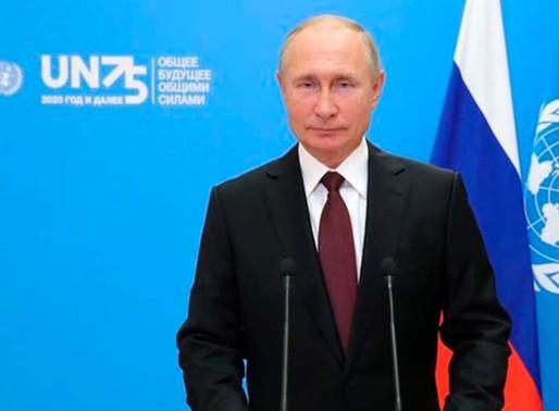 Putin defiende ante la ONU la vacuna Rusa contra covid-19.