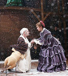 Bill Raymond and Michelle Hendrick in A CHRISTMAS CAROL @ Hartford Stage