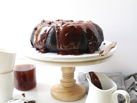 Moist Chocolate and Coffee vegan bundt cake