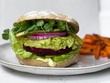 Simple vegan burger