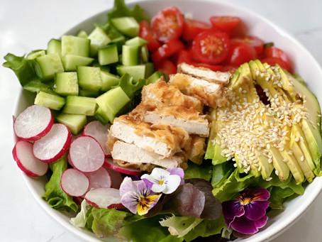 CRISPY TOFU for this salad