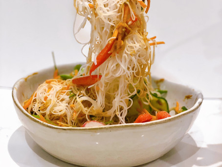 Asian inspired vermicelli noodle salad for one
