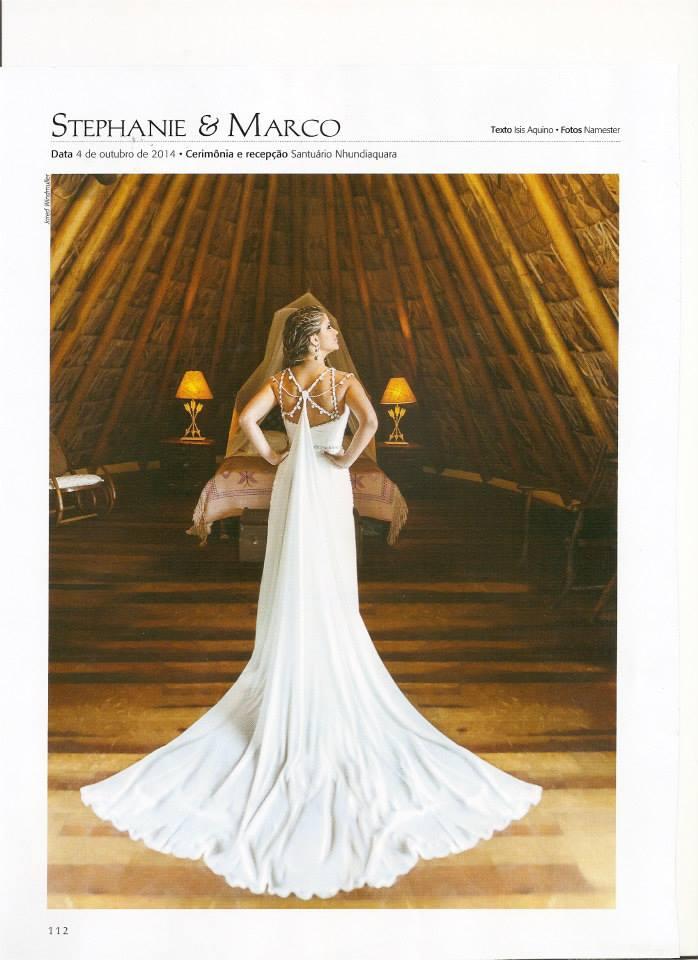 Revista Inesquecível casamento - Casamento Sthephanie e Marco - Santuário Nhundiaquara