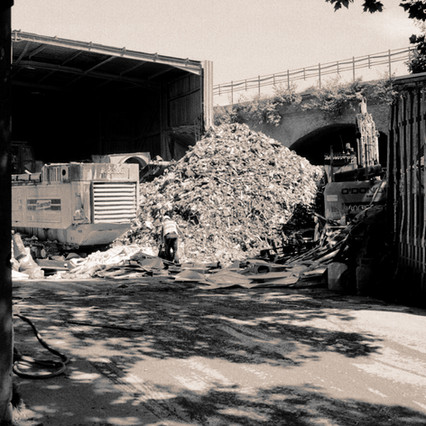 Waste Not Want Not 2018 Waste disposal facility, London C-type print from negative