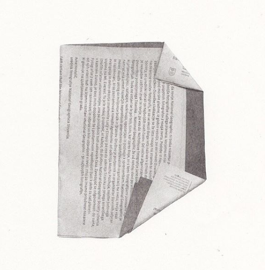"""T R A V E L   J O U R N A L [E D I T I O N   2]  2 0 1 4 L I T H O G R A P H  8 x 11 """"  A selection of 6 works from a series of 52 lithograph prints. When travelling Central Europe I collected receipts and printed material as a record of the movements I made. I then repurposed this detritus as a visual representation of the 6 week journey."""