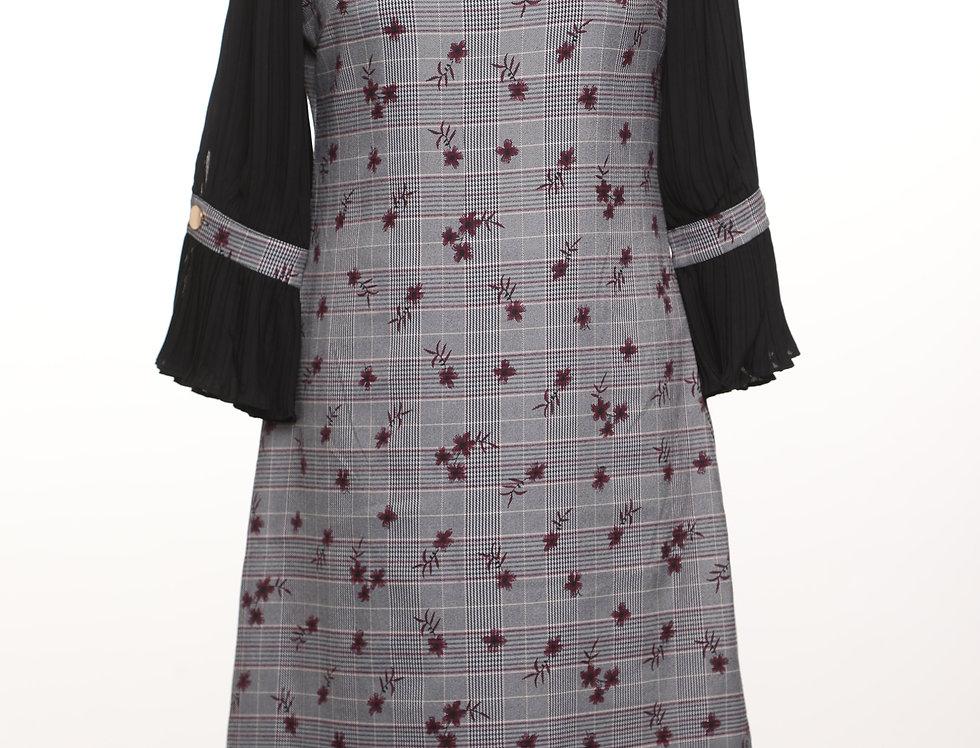 שמלת מנהטן בורדו**
