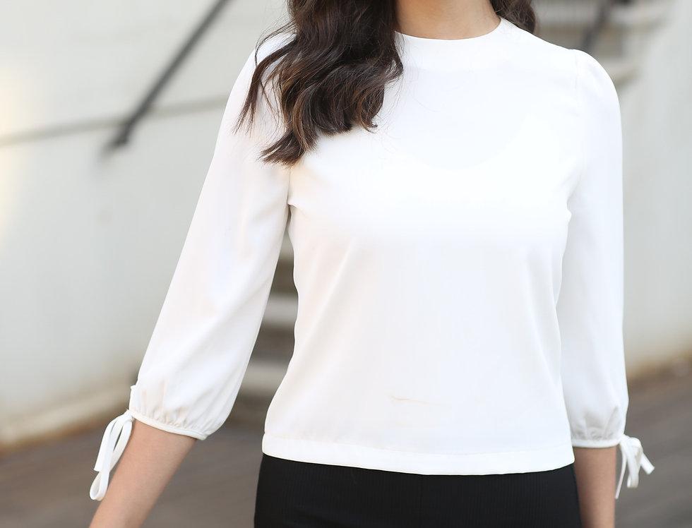 חולצת יהלום לבנה