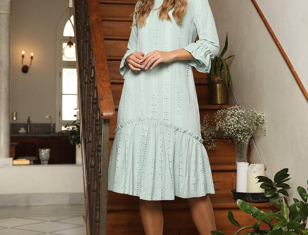 שמלת לייס מנטה