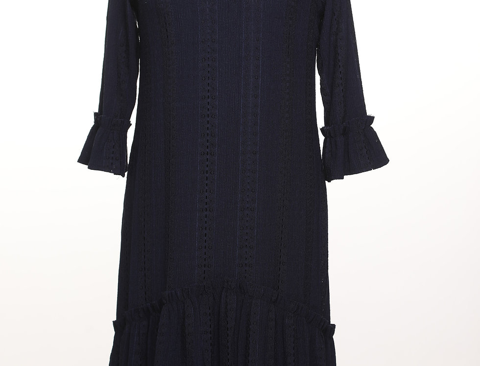 שמלת לייס נייבי***