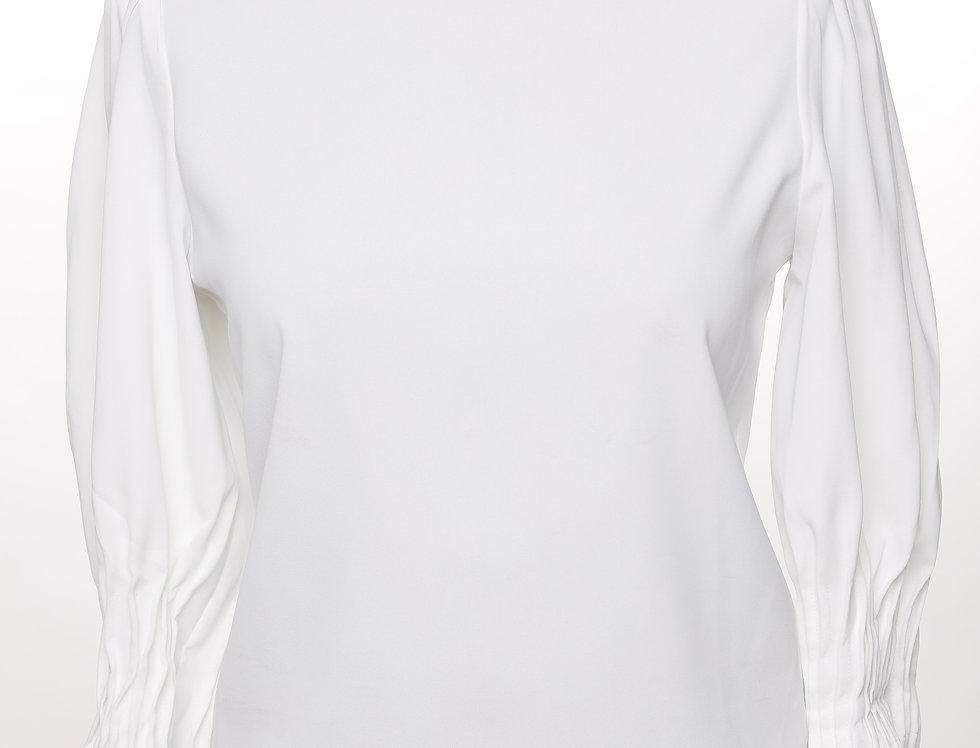 חולצת קפלים לבנה**