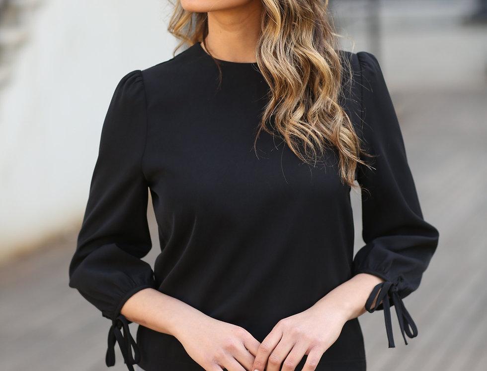 חולצת יהלום שחורה