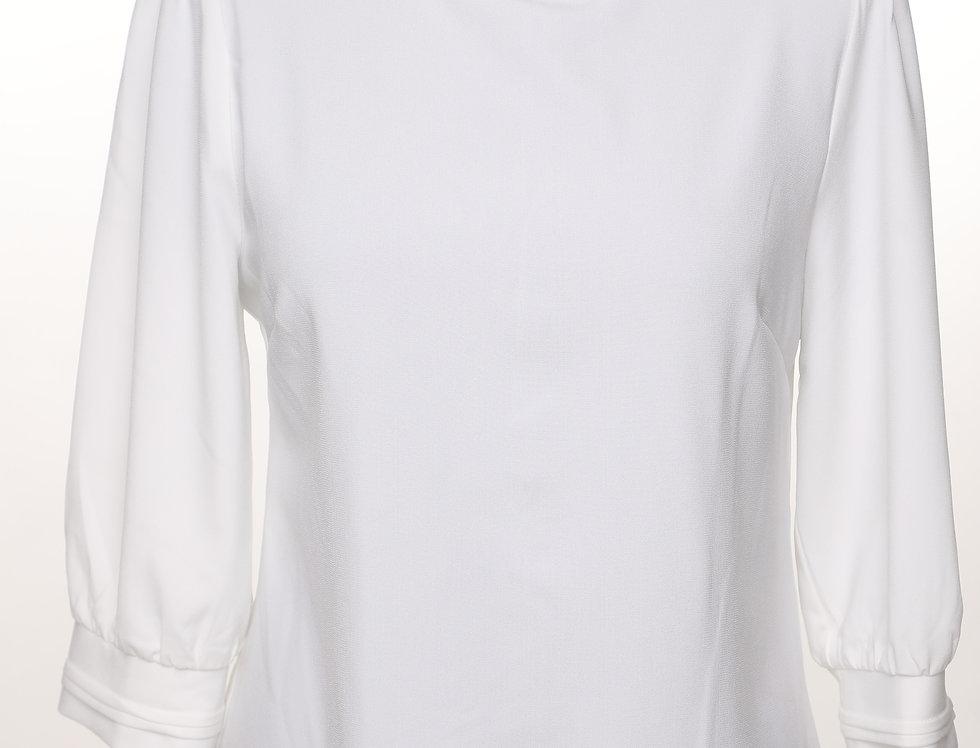 חולצת צווארון לבנה**
