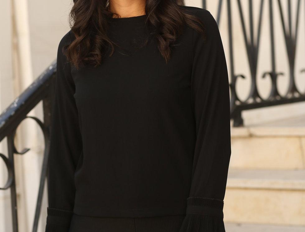 חולצת פליסה שחור