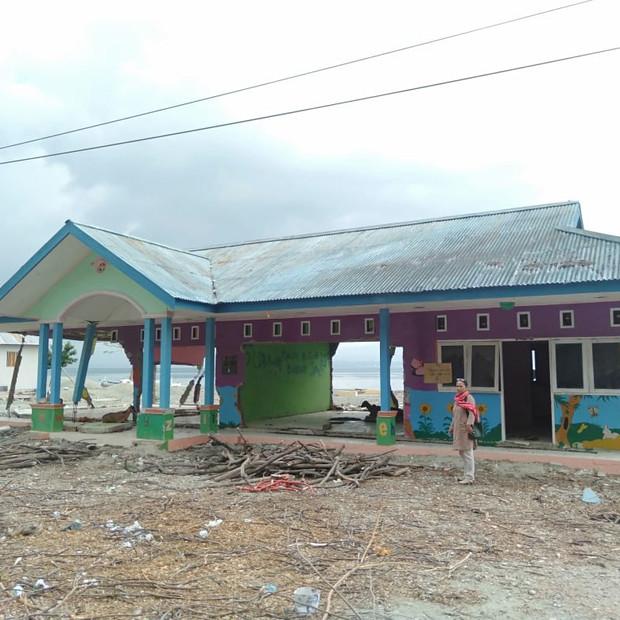 Tsunami hit school in Palu region
