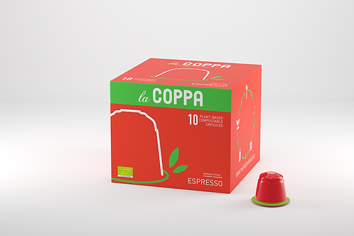 NESPRESSO® Kompatible Kapsel la COPPA ESPRESSO (Kompostierbar)