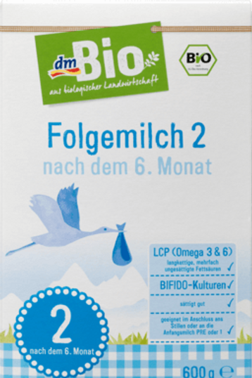 DM Bio Folgemilch 2 - nach dem 6.Monat, 600 g