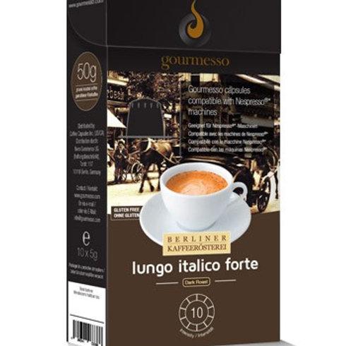 Nespresso® Kompatible Kapsel von GOURMESSO LUNGO ITALICO FORTE Kaffeekapseln