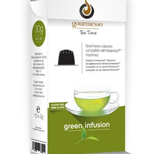 Nespresso® kompatible Kapsel von GOURMESSO Green Infusion Teekapseln