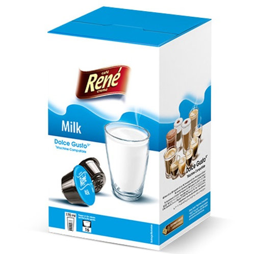 Dolce Gusto kompatible Kapsel von Café René Milk Only