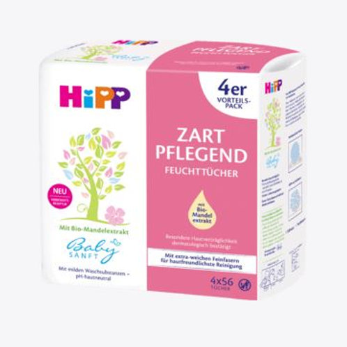 HIPP Baby Zart Pflegend Pflegetücher Maxipack 4x56