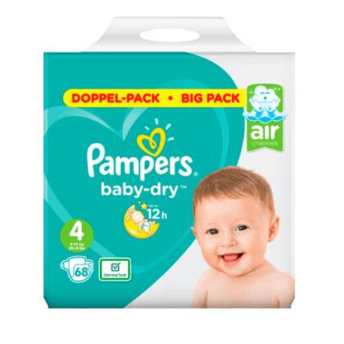 Pampers Baby Dry AIR Nummer 4 Doppel-Pack mit 68St. Inhalt