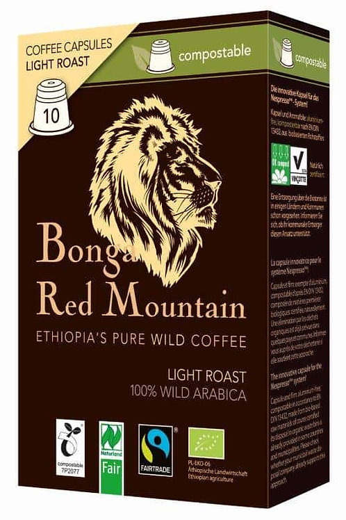 NESPRESSO® kompatible Kapsel Bonga Red Mountain Light Roast Bio/FT