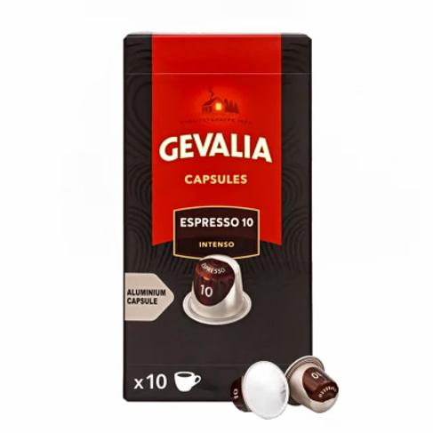 Nespresso® kompatible Kapsel von Gevalia Espresso 10 Intenso (100 Kapseln)