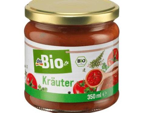 dmBio Sauce, Tomatensauce mit Kräutern, 350 ml