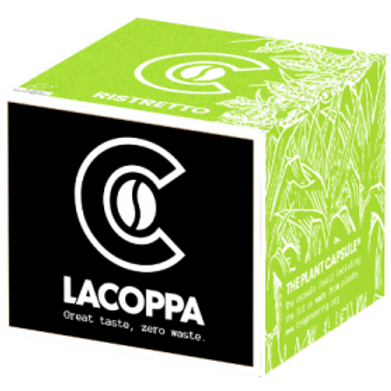 NESPRESSO® kompatible Kapsel LACOPPA RISTRETTO BIO (Kompostierbar)