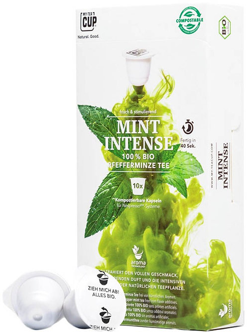 Nespresso® kompatible Teekapseln MY-TEACUP Mint Intense