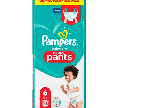 Pampers PANTS Baby-Dry Nappy 6 Doppel Pack mit 48St. Inhalt