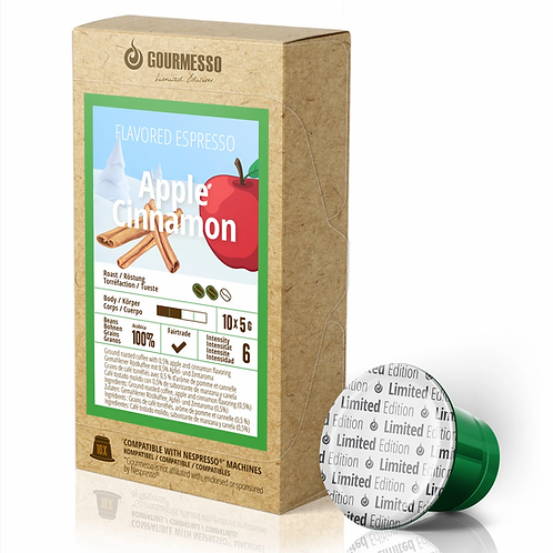 Nespresso® kompatible kompostierbare Kapsel GOURMESSO Apple Cinnamon