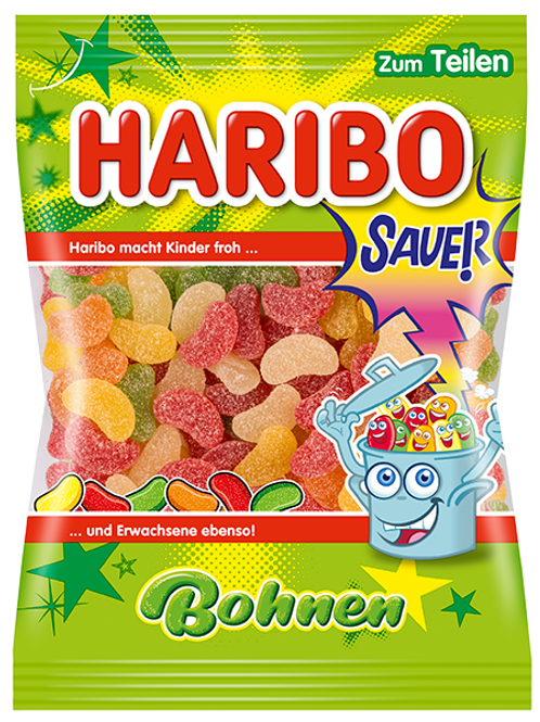 Haribo saure Bohnen, Beutel 200g