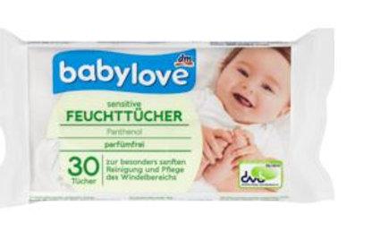 Babylove Sensitive Feuchttücher 1 Pack für unterwegs a 30 Tücher