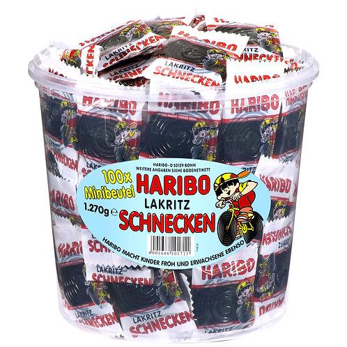 HARIBO LAKRITZ SCHNECKEN, Mini-Beutel 1270 gramm