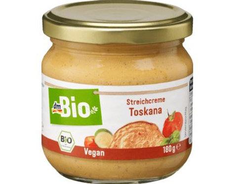 dmBio Aufstrich, Streichcreme Toskana mit Paprika & Tomaten, 180 g Glutenfrei