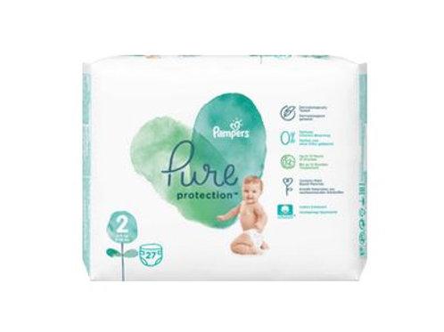 Pampers Windeln Pure Protection, Größe 2, 4-8 kg, Tragepack, 27 St