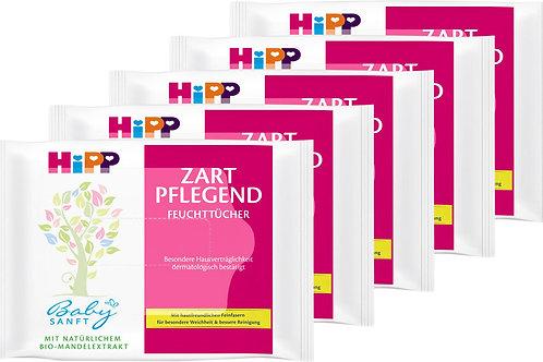 Hipp Feuchttücher Zart Pflegend Reisegrösse Handtaschengrösse 10 Tücher PH