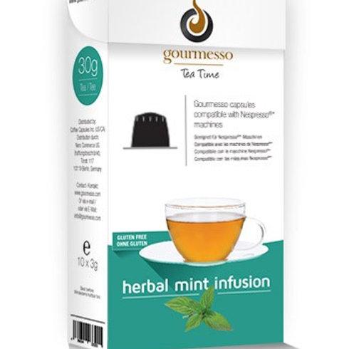 Nespresso® kompatible Kapsel von GOURMESSO Herbal Mint Infusion Teekapseln