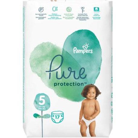 Pampers Windeln Pure Protection, Größe 5, 11+ kg, Tragepack, 17 St